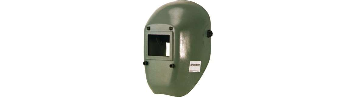 Welding protection shield, hands-free