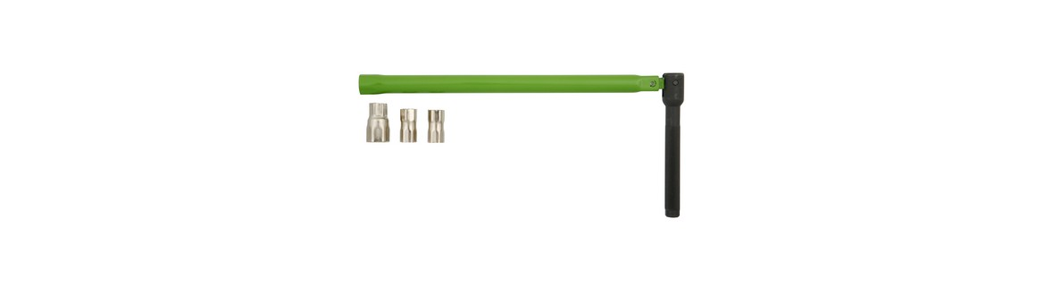 RECA basin wrench with interchangeable inserts
