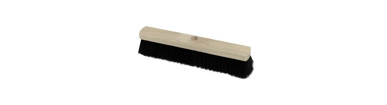 Industrial broom, synthetic hair